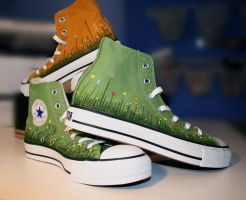 Painted Chucks by curious3d