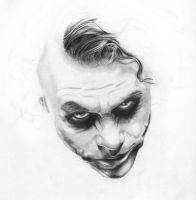 Heath Ledger - The Joker WIP by SkeetRag