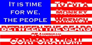 Anti-Corporatist American Flag by OhgunO152