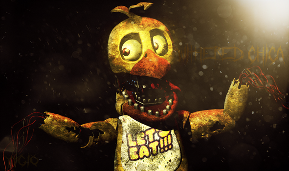 Blender|Withered Chica by YinyangGio1987