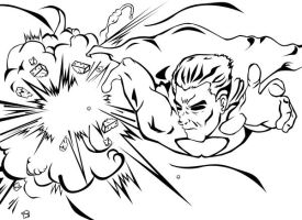 SUPERMAN LINEART by mad-fever