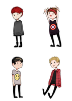 Stickers 5SOS by Dulcedy