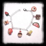 Sweet snacks bracelet cupcakes by spaztazm