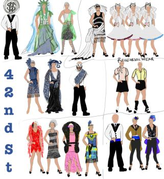 Costume plot 42nd street by dragonariaes