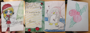 My card for dA's Holiday Card Project! :D by WinterTheGlaceon45