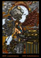 Steampunk Angel Colored by likwidlead
