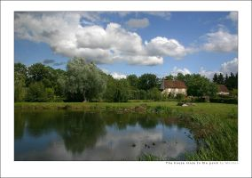 The house close to the pond by mordoc