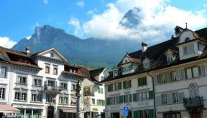 Swiss town by Cadaska