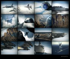 F-16 Animation Snapshots by megamars