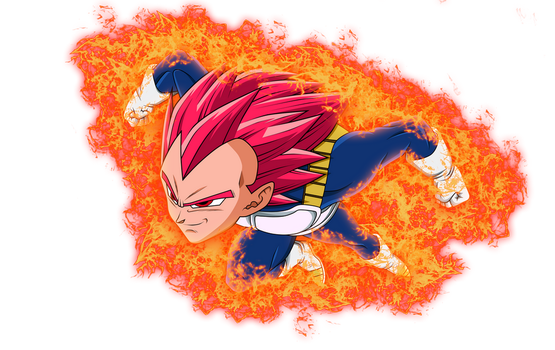 Vegeta Ssj God Red Aura V.3 by Luciano160