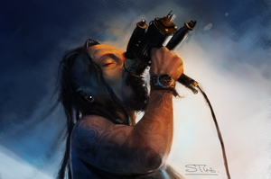 Tomi Joutsen from Amorphis and Sinisthra by XThrill