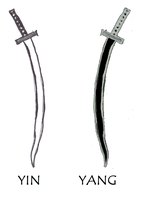 Lank Master's Swords Yin And Yang by keyboy221