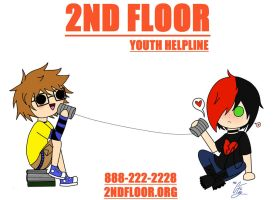 2ND FLOOR Hotline Poster -Less Than Three- by TheRealTDAGeena