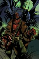 Sandoval Hellboy Colored by dendorrity
