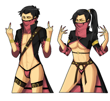 Mileena and.. Miles? by Dirkajek144