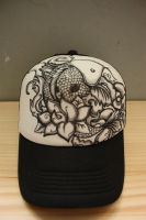 Custom Cap - Koi by injuryordeath