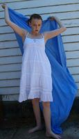 New White Dress Stock 4 by Gracies-Stock