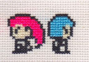 XStitchFanart Tiny Team Rocket by missy-tannenbaum