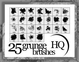 25 Grunge Brushes HQ by FashionVictim89