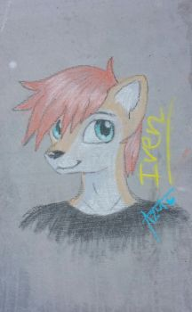 Iven chalk drawing by AzulArtist1027