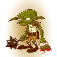Drawlloween 2015 - Day 03 - Goblin by scumbugg