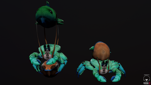 Dota 2 courier crab 3D by pasco295