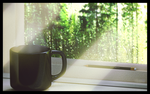window and coffee by Yam1000