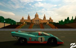 Porsche 917 at Montjuic 4 by ZowLe