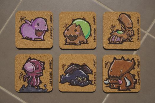 Carbot Coasters - Zerg by Shimochii