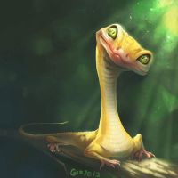 Doodle 198 - reptile friend by giovannag