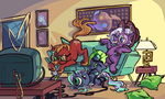 Commission - Game Night by ponywise