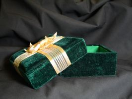Green Velvet Gift Box 2 by FantasyStock