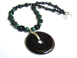 Black Onyx Circles by VioletRosePetals