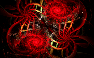 crazy red glass swirls by Andrea1981G