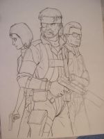 MGS Peace Walker a medio by celucrator