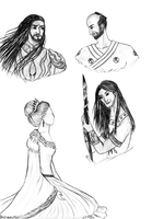 ASOIAF sketches by alcanis-ivennil