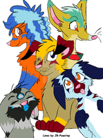 Puppy friends adoptables (auction) by LizzysAdopts