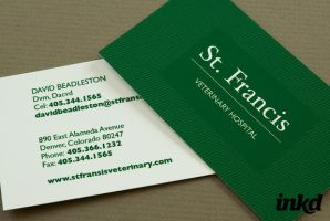Green Veterinary Business Card by inkddesign