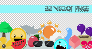 22 Vector PNGs by necannec