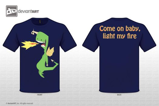 T-Shirt Design - Dragon by Toher999