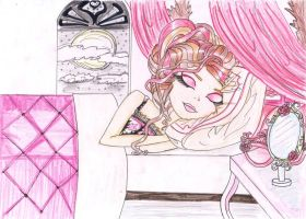 REQUEST EVER AFTER HIGH: BRIAR BEAUTY ON HER BED by Haneeys1nsyeerah