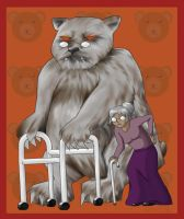 Elderly Annie and Tibbers by EPBJewelry