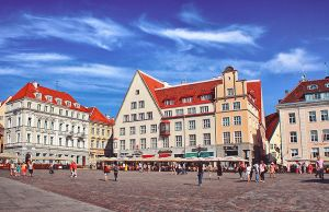 the central square of Tallinn by kiritani-akira