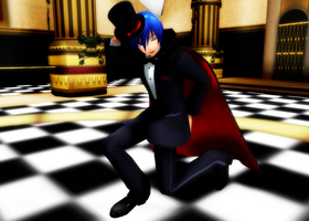 PJD Kaito Tuxedo with hat and cloak by leonlivelks