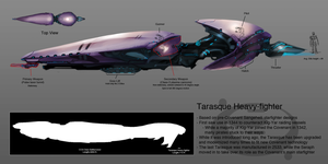 Tarasque Heavy-fighter by TDSpiral