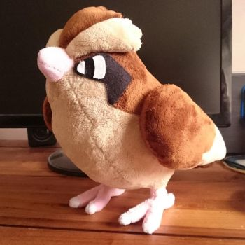 Pidgey Plush by harmonixer101