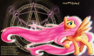 Photoshop/ Playmats 6 Fluttershy by DarkmistRD