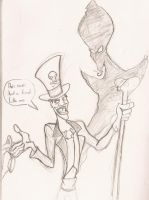 Facilier and Jafar by Kenny-boy