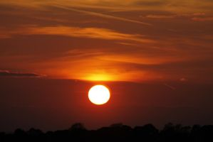 African sunset over Yorkshire by karliosi