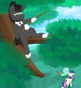 Charity Case Fishing by CrownePrince